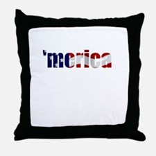 'merica Throw Pillow