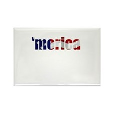 'merica Rectangle Magnet
