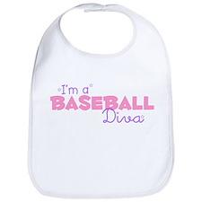 I'm a Baseball diva Bib