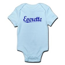 Everette, Blue, Aged Onesie