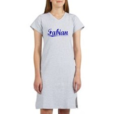 Fabian, Blue, Aged Women's Nightshirt