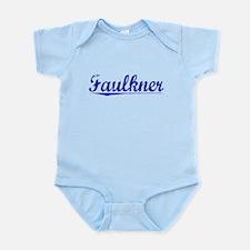 Faulkner, Blue, Aged Infant Bodysuit