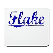 Flake, Blue, Aged Mousepad