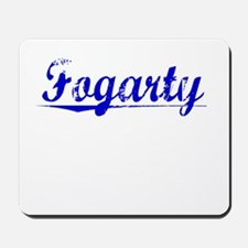Fogarty, Blue, Aged Mousepad