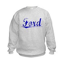Crawford, Blue, Aged Sweatshirt