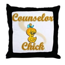 Counselor Chick #2 Throw Pillow