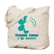 Ovarian Cancer 5 Year Survivor Tote Bag