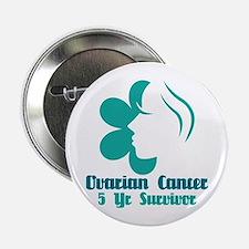 """Ovarian Cancer 5 Year Survivor 2.25"""" Button"""