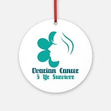Ovarian Cancer 5 Year Survivor Ornament (Round)