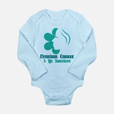 Ovarian Cancer 5 Year Survivor Long Sleeve Infant