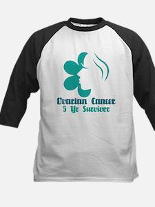 Ovarian Cancer 5 Year Survivor Kids Baseball Jerse