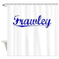 Frawley, Blue, Aged Shower Curtain