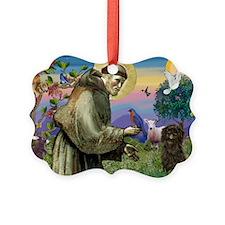 St Francis / Affenpinscher Ornament