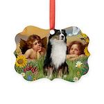 Cherubs / Aussie (tri) Picture Ornament