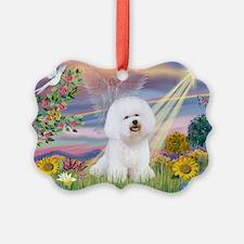 Cloud Angel & Bichon Ornament