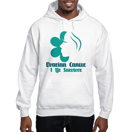 Ovarian Cancer 1 Year Survivor Hooded Sweatshirt