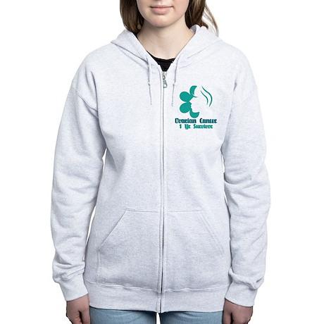 Ovarian Cancer 1 Year Survivor Women's Zip Hoodie