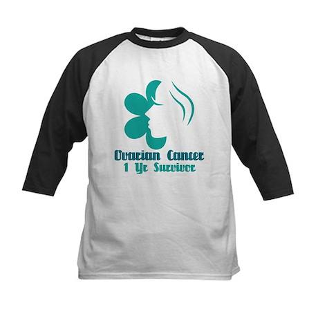Ovarian Cancer 1 Year Survivor Kids Baseball Jerse