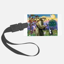St Francis / Boston Terrier Luggage Tag