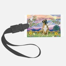 Cloud Angel & Boxer Luggage Tag