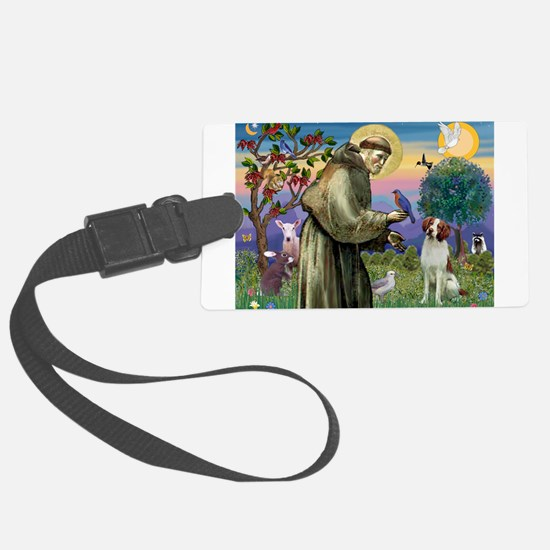 St Francis / American Brittan Large Luggage Tag