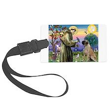 Saint Francis / Bullmastiff Luggage Tag