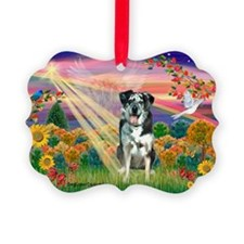 Autumn Angel / Catahoula Leop Ornament