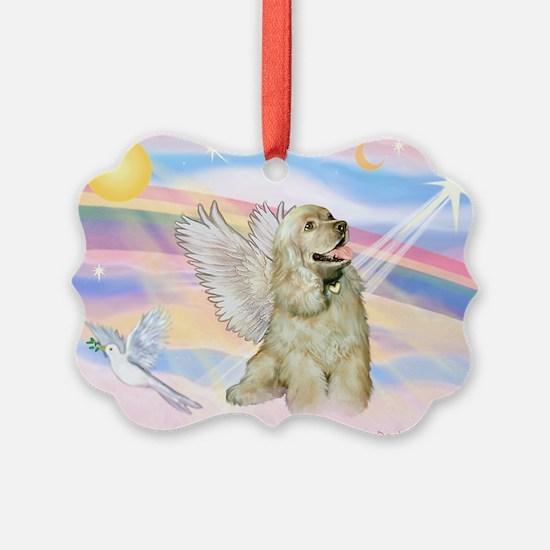 Cocker Spaniel Angel (Buff) Ornament