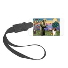 St Francis / Collie Luggage Tag