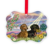 Cloud Angel Doxies Ornament