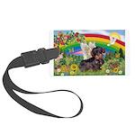 Rainbow Bright / Dachshund (w Large Luggage Tag