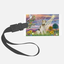 Cloud Angel / Wire Fox Terrie Luggage Tag