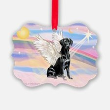 Black Lab Angel Ornament