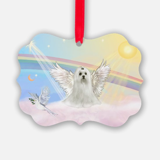 Maltese Angel (C) Ornament