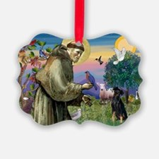 St. Francis & Min Pin Ornament