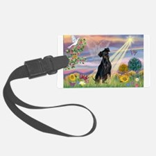 Cloud Angel / Miniature Pinsc Luggage Tag