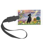 Cloud Angel / Miniature Pinsc Large Luggage Tag