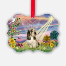 Cloud Angel & PBGV Ornament