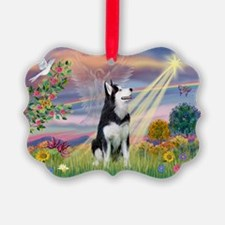 Cloud Angel / Siberian Husky Ornament