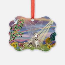 Cloud Angel & Whippet Ornament