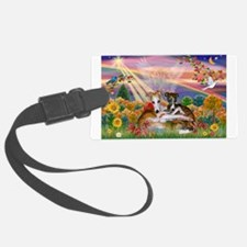 Autumn Angel / Whippet Luggage Tag