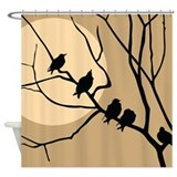 Bird print Shower Curtains