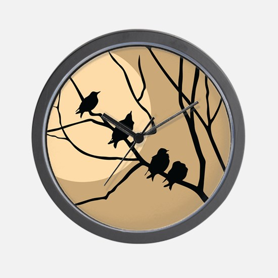 THE FLOCK Wall Clock