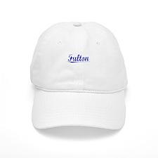 Fulton, Blue, Aged Baseball Cap
