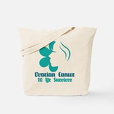 Ovarian Cancer 10 Year Survivor Tote Bag