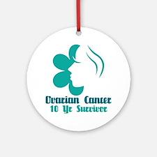 Ovarian Cancer 10 Year Survivor Ornament (Round)