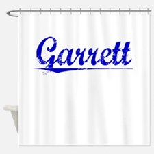 Garrett, Blue, Aged Shower Curtain