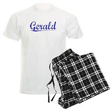 Gerald, Blue, Aged Pajamas