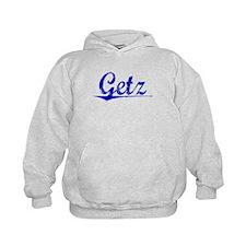 Getz, Blue, Aged Hoodie