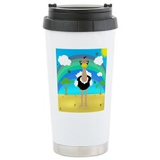 Kawaii Ostrich v2 Travel Mug